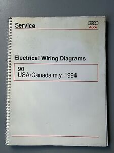 1994 Audi 90 Quattro Sedan Electrical Wiring Diagrams Service Manual S CS  AWD   eBayeBay