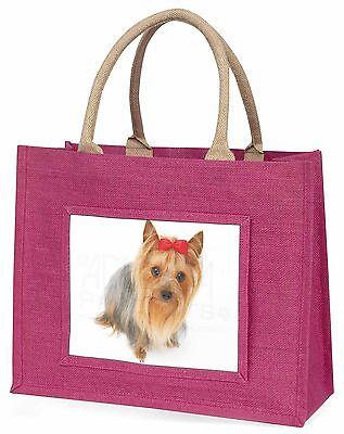Yorkshire Terrier Hund Große Rosa Einkaufstasche Weihnachten Geschenkidee,