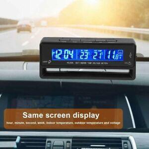 Numerique-LCD-Ecran-Voiture-Digital-Horloge-Thermometre-Temperature-Voltmetre
