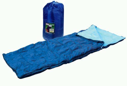 SINGLE SLEEPING BAG CAMPING CARAVAN WINTER WARM ADULT SIZE - CARRY BAG FREE POST