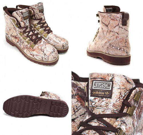 ADIDAS RANSOM camouflage HIKING bottes Taille US 9.5 /9 / EUR  43  1/3