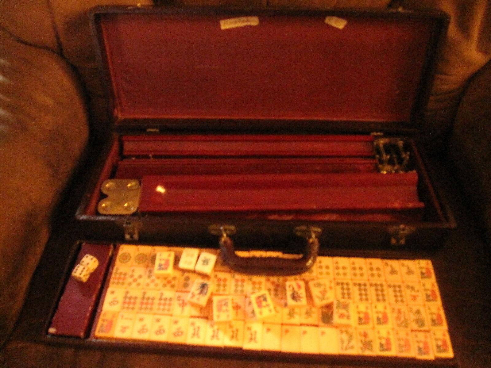 Vintage Mah Jongg Set in Case Case Case Circa 1940 Butterscotch Gelb Catalin 152+ Tiles 4ab3fc