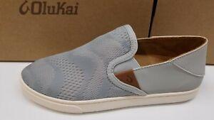 Olukai Womens Pehuea Sneakers Pale Grey