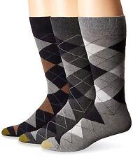 Gold Toe Men's Carlyle Argyle Socks, Navy /Grey/ Heather Fits Shoe 6-12