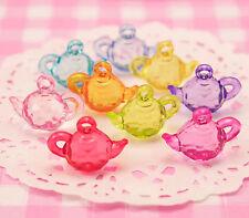 25 x Colourful Teapot Beads DIY Jewellery Childrens Kids Craft Supplies