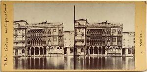 Venezia-Palais-Ca-Oro-Fotografia-Stereo-Vintage-Albumina-c1865