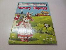 A Big Time Wonder Book Read-With-Me Nursery Rhymes vintage hardcover