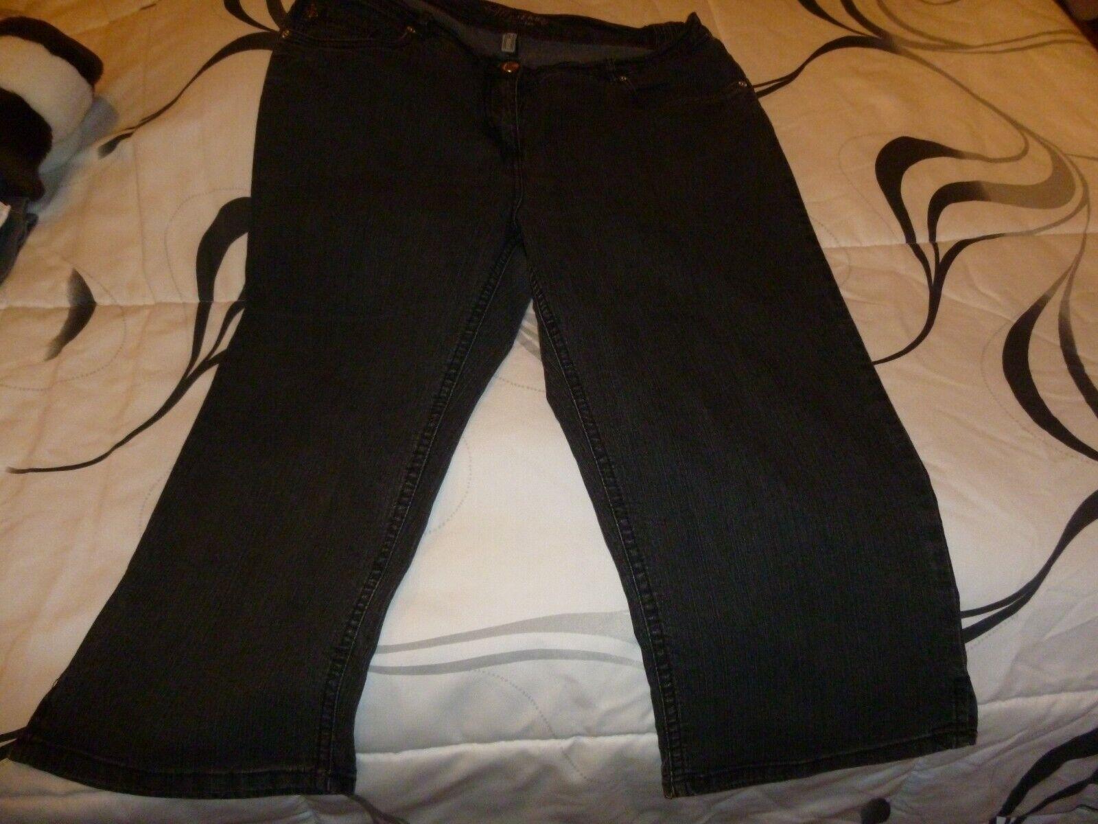 7/8 -Jeans-Capri Gr.46-schwarz- Stooker