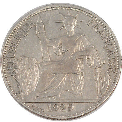 Paris #26006 20 Cents French Indo-china Vf Forceful 30-35 Km #17.1 1929 Silver To Have A Long Historical Standing