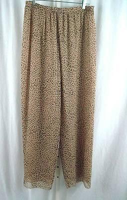 Nira Nira New York Silk Pant Size XL Brown Animal Print