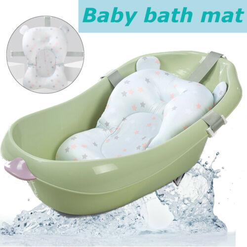 Baby Bath Pad Non-Slip Bathtub Mat Pillow NewBorn Safety Bath Seat Support UK
