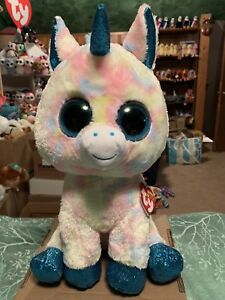 "Ty BLITZ -Pastel Tie-Dyed Sparkly Blue Unicorn 24"" Jumbo Beanie Boo ... e401b603ac7"