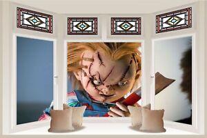 Huge-3D-Bay-Window-Chucky-Doll-View-Wall-Sticker-Film-Mural-Wallpaper-1152