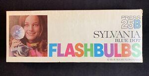 Vintage Sylvania Blue Dot Press 25B Flashbulbs - 8 Bulbs
