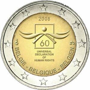 **  --  2 EURO COMM - BELGIQUE 2008 - 60e ANN DECL DROIT HOMME