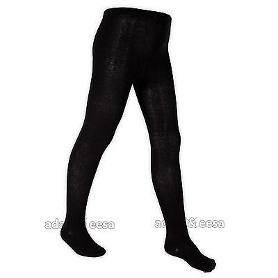 Girls Tights Cotton Rich Black Grey Navy White Sizes 3/4 5/6 7/8 9/10 11/12 Yrs