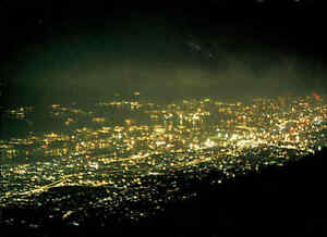 JAPAN-Post-Card-Postkarte-1970-Brilliant-night-view-from-Mt-Rokko-auf-Stadt
