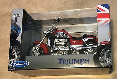 Welly Triumph Rocket III Red Motorcycle Die Cast 1:18 NEW factory sealed in box
