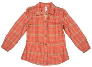 Get Wivvit Girls Flannel Check Floral Bouquet Shirt Roll Sleeve Blouse Sizes from 7 to 15 Years