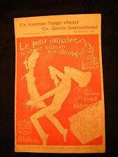Partition Le petit patissier Lucien boyer Fred Raymond Music Sheet