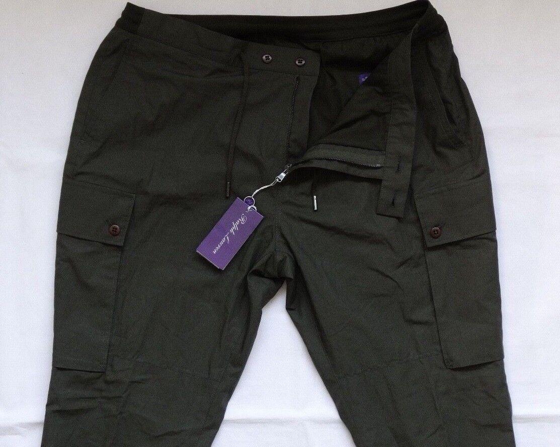 Ralph Lauren lila Label Grün Military Cargo Jogger Pants Gr 38