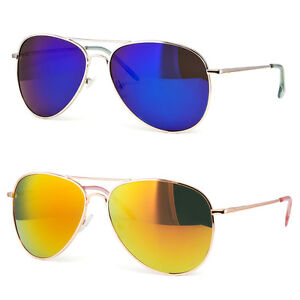 37196843c Image is loading Extra-Large-Pilot-Style-Sunglasses-Gold-Silver-Frame-