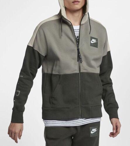 Dark Sequoia Xxl capucha con Chaqueta Stucco Nike 004 Fleece 886044 Air Size para Nuevo hombre FBzOOP