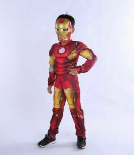 FANCY DRESS COSTUME ~ BOYS AVENGERS DELUXE VISION CHILDS AGES 5-10 YEARS