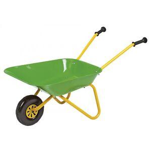 Rolly Toys Metallschubkar<wbr/>re Schubkarre Karre Kinderschubkar<wbr/>re grün/gelb