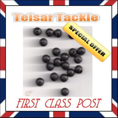 50 caoutchouc perles 6mm rig perles terminal tackle