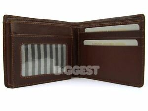 NEWMens-Gents-SUPER-SOFT-LEATHER-WALLET-Top-Quality-Brown