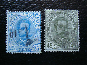 Italy-Stamp-Yvert-and-Tellier-N-61-62-Obl-A11-Stamp-Italy-O