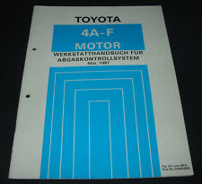 Werkstatthandbuch 4A-FE Motor Toyota Corolla  Abgaskontrollsystem Stand 05/1987!