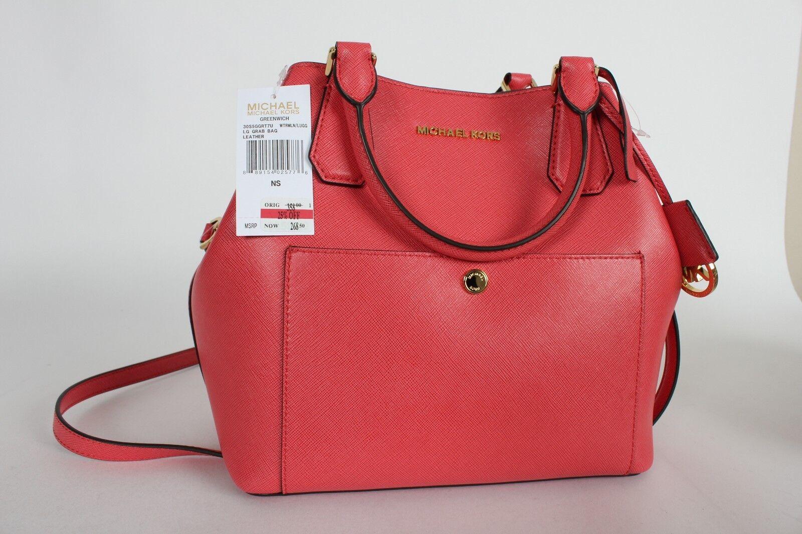 308bf261df66 Michael Kors Greenwich LG Grab Tote Handbag in Watermelon/luggage  30S5GGRT7U for sale online   eBay