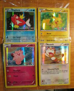 Scelle-Pokemon-Jouets-R-US-Promo-Magicarpe-Pikachu-Clefairy-Miaouss-Carte
