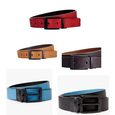 Reversible Leather Belt Mustard