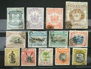 North Borneo 1894 Part Set to $10  USED