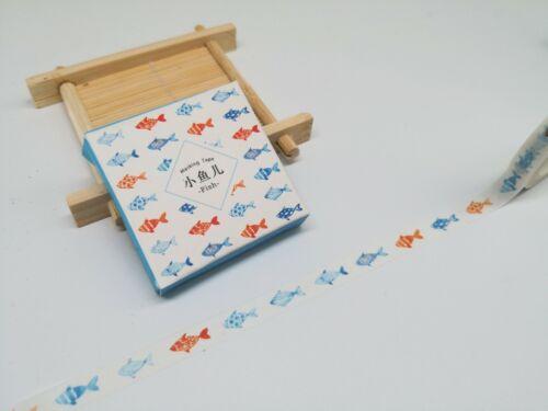 Japan Washi Tape Fish 8mm x 8m MT352