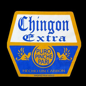 Mens Funny Chingon Extra Corona Logo Beer Mexican Drinking Puro T-Shirt Tee