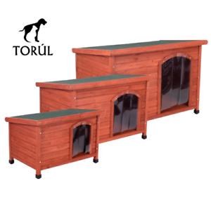 Caseta de madera Torúl Woody con puerta para perros
