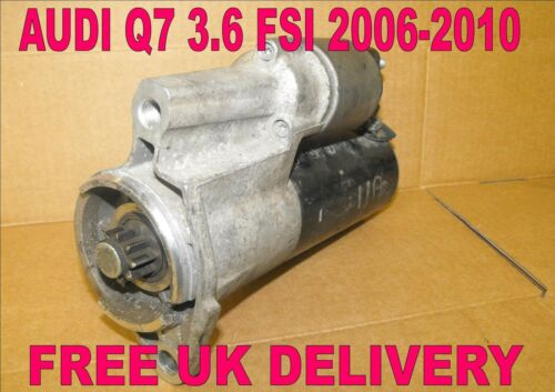 3.6 FSI 2006 2007 2008 2009 2010 FULLY WORKING STARTER MOTOR 4L AUDI Q7