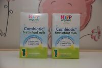 2 -BOXES-HiPP-Organic-Combiotic-First-Infant-Milk-Stage-1-UK-Version-800g 1/2018