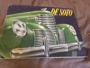1939-DeSoto-Large-Prestige-Original-Color-Brochure-Catalog-Prospekt