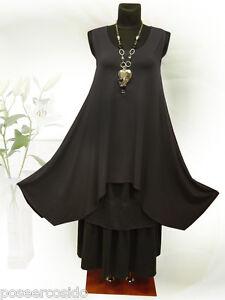 Schwarz Shirt xl top Tunika Long xxxl Design Lagenlook Poco xxl Zwischenteil L xTIq0zR