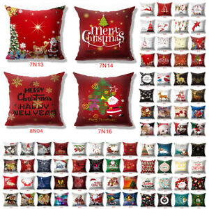 New-18x18-034-Christmas-Theme-Pillow-Case-Sofa-Car-Throw-Cushion-Covers-Home-Decor