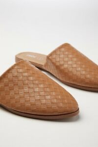 Rubi-Shoes-Charlotte-Soft-Mule-Flats-In-Camel-Emboss-Pu