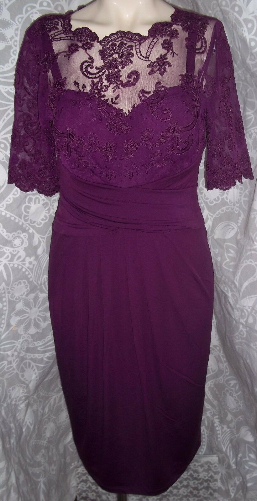 0bf7212172aabc Kaliko Claret Lace Dress with Discreet Support Ruche RRP & nroqzn925 ...