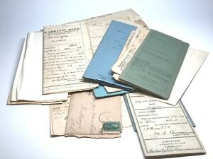 Eupherma-Big-Lot-Deeds-Letters-Legal-Postcards-And-More-Early-1900-039-s