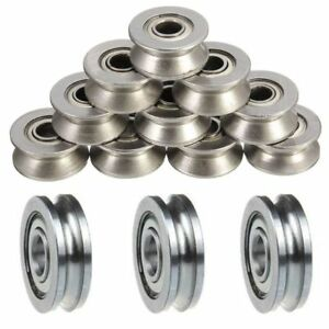5pCS-Guide-Wheels-Roller-U-Groove-Pulley-Ball-Bearing-Sealed-Guide-Wire-Track