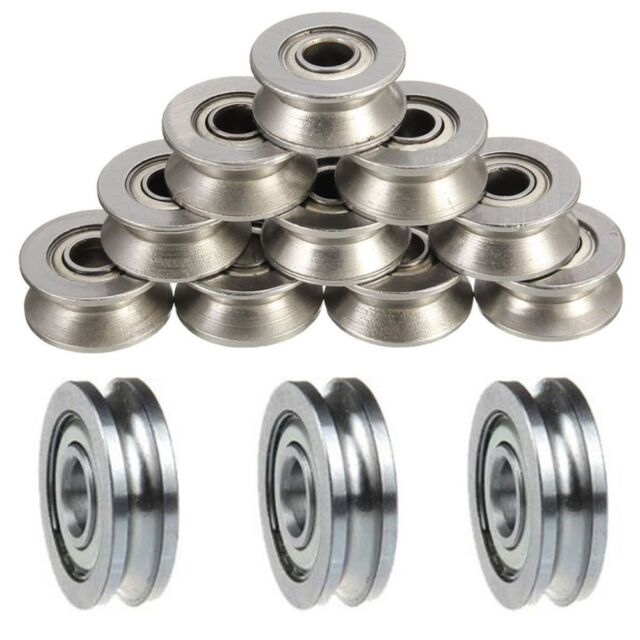 Wire Guide Pulley | 5pcs Guide Wheels Roller U Groove Pulley Ball Bearing Guide Wire
